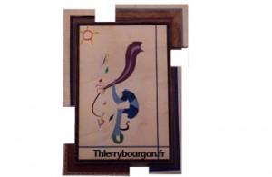 Un abstrait qui représente un arbre généalogique sous le soleil de Miro